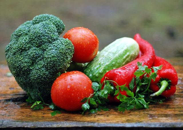 Gesunde Ernährung, Gemüse etc. - ermöglicht schnelles Schwanger werden